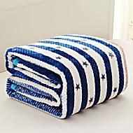 Velocino de Coral Azul,Fios Tingidos Guingão 70% Acrílico / 30% Algodão cobertores S:150*200cm