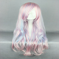 Pink Cosplay Wigs  Sexy Hair  80cm  Long Deep Wave Synthetic Quality Lolita Wig Costume Party Wig