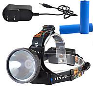 תאורה פנסי ראש LED Lumens 3 מצב - 18650 Dimmable ניתן לטעינה מחדש מתח גבוה קל במיוחדמחנאות/צעידות/טיולי מערות שימוש יומיומי רכיבה על