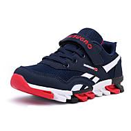 Unissex-Tênis-Conforto-Rasteiro-Azul Vermelho Azul Real-Camurça-Ar-Livre Casual Para Esporte
