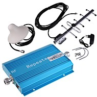 Blue CDMA 850MHz Cell Phone Signal Booster Amplifier with YaGi and Ceiling Antennas Kit