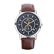 Men's Dress Watch / Fashion Watch Quartz Water Resistant/Water Proof Leather Band Casual Blue / Brown / Green Brand