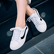 Women's Sneakers Spring / Summer / Fall Comfort Leather Casual Flat Heel Lace-up White Others