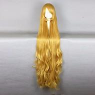 Γυναικείο Συνθετικές Περούκες Χωρίς κάλυμμα πολύ μακριά Κυματιστά Κίτρινο Περούκα άνιμε Απόκριες Περούκα Καρναβάλι περούκα φορεσιά