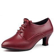 Na míru-Dámské-Taneční boty-Latina-Kůže-Kačenka-Černá / Červená