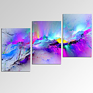 VISUAL STARAbstract Painting Wall Art for Home Decor 3 Panels Giclee Print on Canvas Ready to Hang