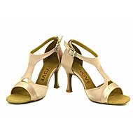 Sapatos de Dança(Preto / Azul / Amarelo / Rosa / Roxo / Vermelho / Branco) -Feminino-Personalizável-Latina / Salsa