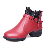 Niet aanpasbaar-Dames-Dance Schoenen(Zwart / Rood) - metLage hak- enJazz / Tapdansen / Modern / Swingschoenen / Dance Boots / Salsa