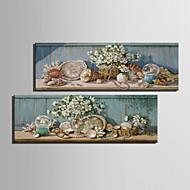 Stilleben / Botanisk Canvastryck Två paneler Redo att hänga , Vertikal