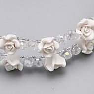 Mulheres / Menina das Flores Liga / Resina Capacete-Casamento / Ocasião Especial Flores