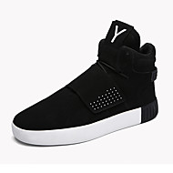 Men's Fashion Sneakers Microfiber Suede Leather Medium cut Flats Board Shoes Shoes