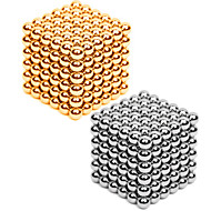 Mıknatıslı Oyuncaklar 432 Parçalar 3MM Magnetic Balls 216PCS *2,Golden&Silver 2 Color Mixed in 1 Box,Diameter 3 AAStresi Hafifletir