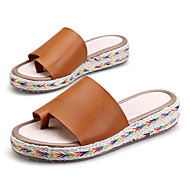 Women's Sandals Summer Toe Ring / Creepers PU Outdoor / Casual Platform Braided Strap Black / Brown / Green /