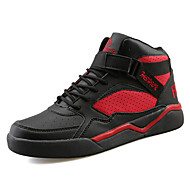 Men's Sneakers Spring / Fall Comfort PU Outdoor / Athletic / Casual Flat Heel Beading / Buckle / Lace-up Black / Red / WhiteRunning /