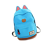Casual Outdoor Backpack Unisex Canvas Beige Blue Green Yellow Brown Red Black