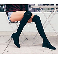Women's Boots Winter Comfort PU Dress / Casual Low Heel Lace-up Black Walking