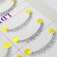 Cílios Pestana Cílios Inferiores Olhos Cruzado Confeccionada à Mão Fibra Transparent Band 0.10mm 6mm