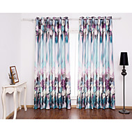 Two Panels Curtain Modern  Plaid/Check Living Room Poly