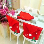 moda tampão de Santa cláusula de chapéu vermelho cadeira de móveis de volta cobrir natal tabela de jantar do partido