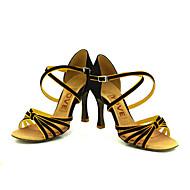 Customized Women's Satin Arch Strap Latin / Ballroom Dance Performance Shoes