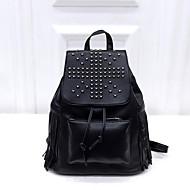 Casual Backpack Women PU Black