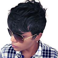 моды слоистые короткие волнистые монолитным парики высокого качества человеческих волос