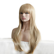 Long Curly Fluffy Full Side Bang Synthetic Wigs for Women Blonde Heat Resistant Cheap Cosplay Wig Hair