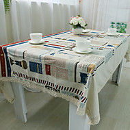 Square Patchwork Table Cloth , 100% Cotton Material Hotel Dining Table / Table Decoration