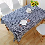 Obdélníkový Pruhovaný / Sešívaný Ubrusy , Lněný Materiál Hotel Jídelní stůl / Tabulka Dceoration