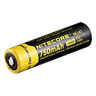הסוללה 750mah 3.7V 2.8wh 14500 Li-ion nl147 nitecore