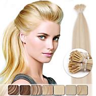 neitsi 20 '' 50g pré fusão ligada i ponta cola varas extensões de cabelo humano ombre destacar cabelos lisos
