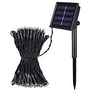 Jiawen 8 modes 10m 100 leds blanc froid solaire imperméable à l'eau en plein air ou blanc chaud led string
