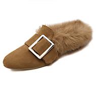 Damen-Flache Schuhe-Lässig-Vlies-Flacher Absatz-Andere-Schwarz Braun