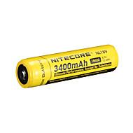 nitecore nl189 3400mAh 3.7v 12.6wh bateria recarregável 18650 li-ion