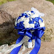 Svatební kytice Kulatý Růže Lilie Pivoňky Kytice Svatba Párty / večerní akcePolyester Satén Taft Krajka elastan sušené květiny imitace