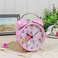 Alarm Clock with Matel Case Silent Movment Pink Color Night Light