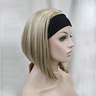 nye mode 3/4 paryk med hovedbøjle kvinders korte lige syntetiske halv paryk