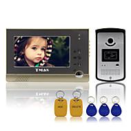 """tmax® 7 """"TFT vezetékes csengő videós kaputelefon kaputelefon RFID távirányító 600tvl hd kamera ir"""