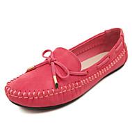 Dame-Fleece-Flat hæl-Mokkasin-Boat Shoes-Kontor og arbeid / Formell / Fritid-Svart / Lilla / Rød / Mandel