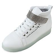 Feminino-Tênis-Conforto / Sapatos de Berço / Tira no Tornozelo-Rasteiro-Branco-Couro Ecológico-Casual / Para Esporte
