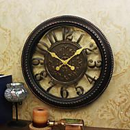 Retro Família Relógio de parede,Redonda Plástico 16 Interior Relógio