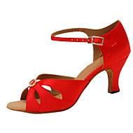 מותאם אישית-עקב מותאם-סאטן-לטיני / ג'אז / נעליי ריקוד סווינג / סלסה-נשים