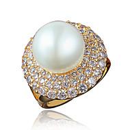 Δαχτυλίδι Μαργαριταρένια Επιχρυσωμένο 18K χρυσό Χρυσό Λευκό Κοσμήματα Γάμου Πάρτι Καθημερινά Causal 1pc