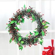 Vánoční dekorace oken zelený věnec