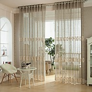 One Panel Curtain European Bedroom Polyester Material Sheer Curtains Shades Home Decoration For Window