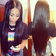 10-26inch em estoque parte reta média brasileira laço do cabelo humano peruca dianteira
