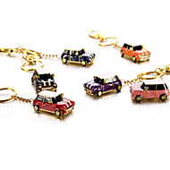 Crystal Metal Car with Keychain USB 2.0 Flash Pendrive U Disk 64GB