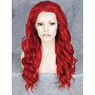 imstyle 24''hot Verkauf Cosplay rote Wasserwelle synthetische Spitzefrontseiten-Perücken hitzebeständig