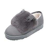 Women's Boots Winter Comfort Suede Dress Casual Flat Heel Black Gray