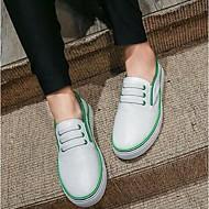 נשים-נעליים ללא שרוכים-עור חזיר-נוחות-שחור / ירוק / לבן-קז'ואל